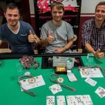 Die 3 Erstplatzierten der BM Chemnitz 2015 - Samuel Weiß (mitte), Thomas Kirchhof (rechts) und Alexander Klein (links)